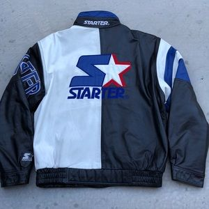 Vintage Starter Leather Jacket